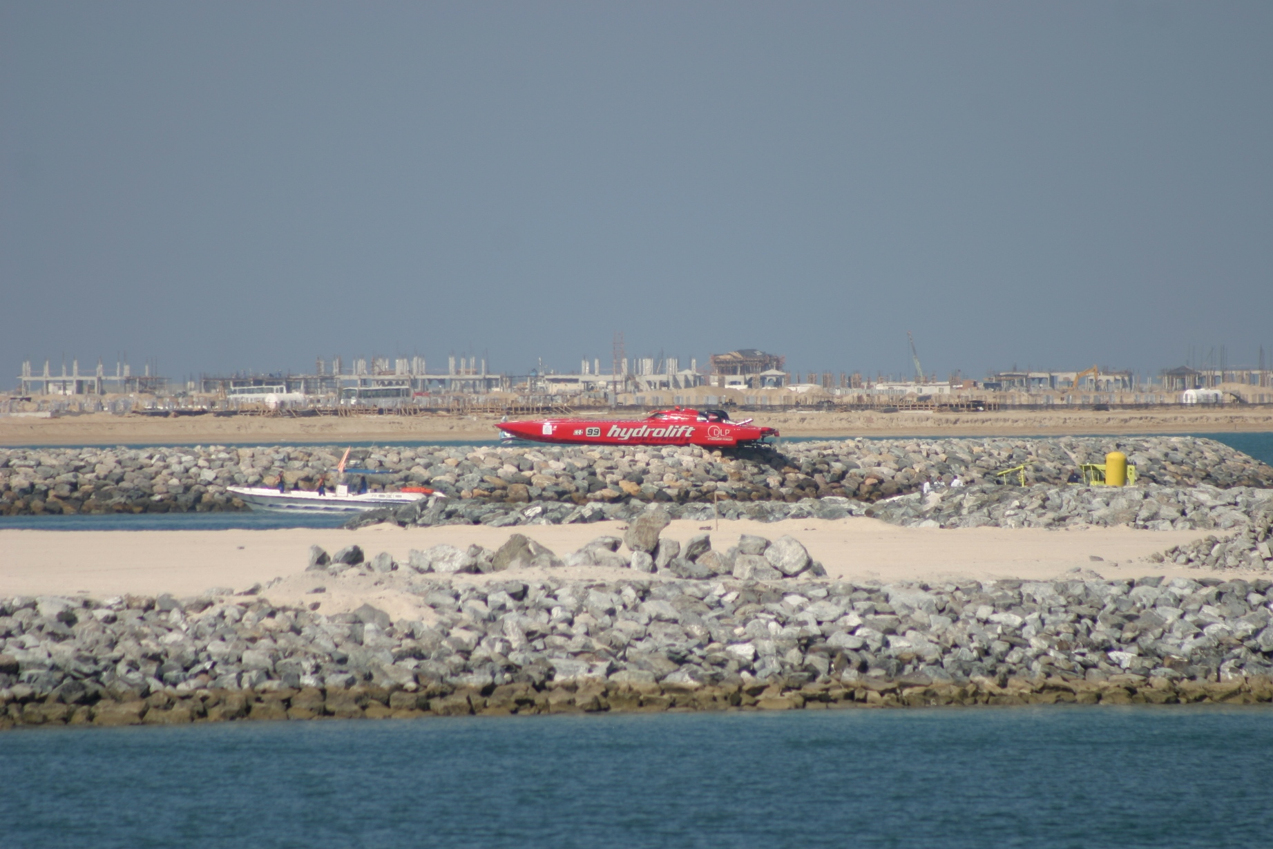 Offshore on the rocks in Dubai... ops