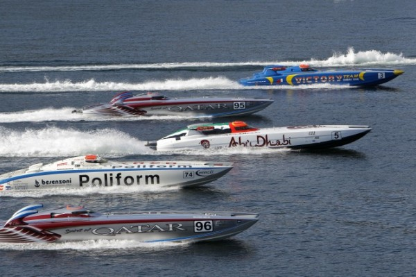 Let Class 1 GP action commence on Lake Como in Italy - Photo: Simon Palfrader©