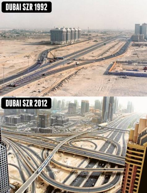 First Interchange on Shaikh Zayed Road in Dubai. Photo Courtesy of Gulf News