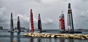 America&#8217;s Cup 2012: Emirates Team New Zealand  stata fra le prime ad uscire in mare stamattina