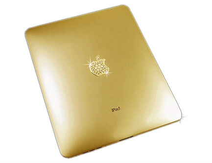 iPad customised with gold and diamonds.. suitable for Dubai
