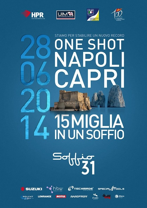 Soffio fast rib: record attempt Napoli-Capri: the flyer
