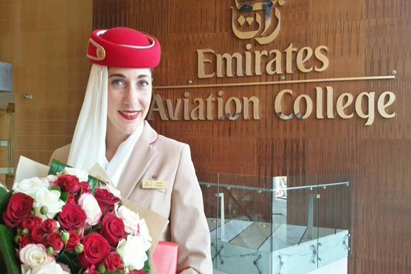 veronica vercelli hostess italiana emirates airlines dubai