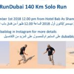140 km nel deserto in solitario per celebrare il National Day